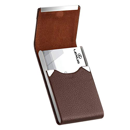 3.7 x 2.3 x 0.48 inches Walnut /& Stainless Steel MaxGear Professional Walnut Wood Metal Business Card Holder Pocket Business Card Case Slim Business Card Wallet Business Card Carrier for Men /& Women