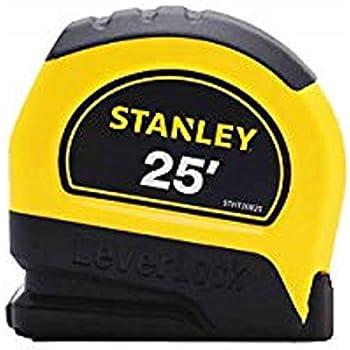 "Stanley STHT30825 LeverLock Tape Rules, 1"" x 25', Yellow"