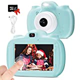 28 MP Kids Digital Camera Dual, 3.0' IPS HD 1080P Touch Screen Rechargeable Toys for Boys Girls Age 3-9, Video Selfie Camera with 32GB SD Card Camcorder Toddler Gift for 3 4 5 6 7 8 9 Years old-Blue