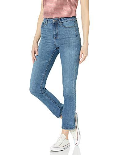 Goodthreads High Rise Slim Straight jeans, Mid-Blue, 26