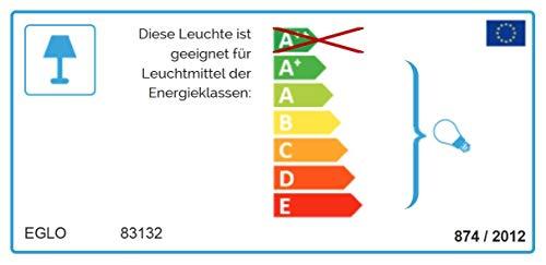 Preisvergleich Produktbild EGLO GRAFIK Wand- / Deckenleuchte,  Stahl,  E27,  60 W,  weiss