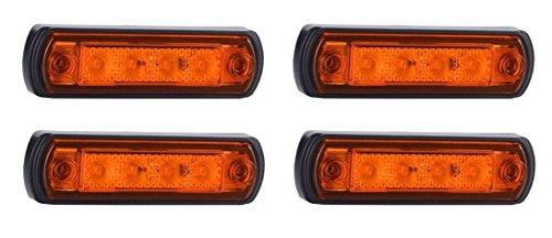 4 x 12 V 24 V LED orange ambre pour tableau de bord avant de voiture Kelsa Bar pare-buffles pour camion, camping-car, SUV