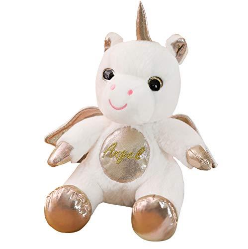 lili-nice Giocattoli di Peluche Kawaii Unicornio Animali Bambola di Peluche Angelo Unicornio con Ali Giocattoli di Unicorno Farciti Baby Kids Regali di Compleanno 25Cm