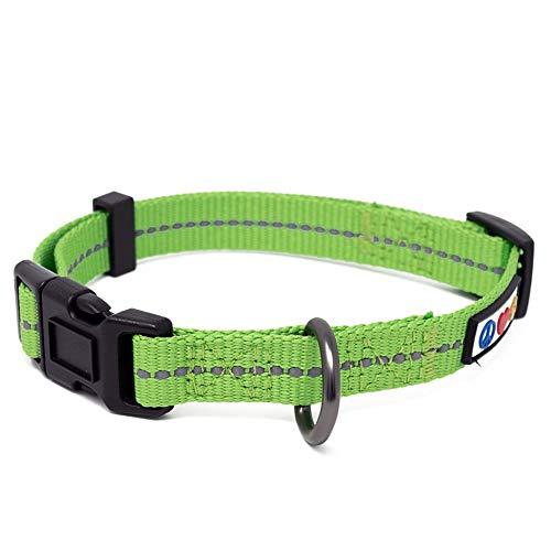 Pawtitas ♻️ Collar de Perro Reciclado con Costura Reflectante | Collares para Perros y Cachorro Hecho de Botellas de plástico recogidas en Océanos - Collar para Perro Extra Pequeño Verde Tierra