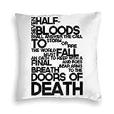 Sli8zhen - Fundas de almohada decorativas para decoración del hogar, diseño de héroes de Olympus Prophecy de terciopelo, para familiares y amigos, 18 x 18 pulgadas