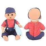Zwindy Muñeca de Juguetes para acompañar al bebé, Exquisita Mano de Obra, Juguete de muñeca para bebé, Toque Realista y cómodo para Regalos de cumpleaños de Navidad(MY002-3)