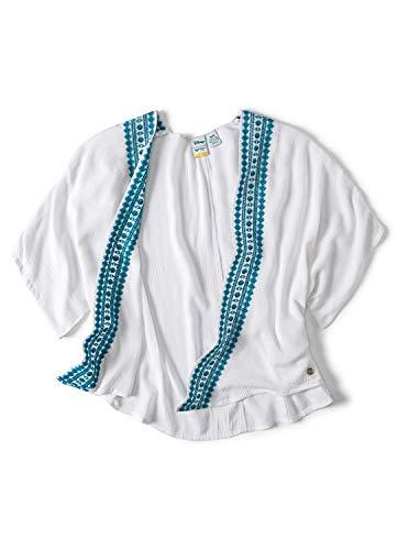 Roxy Girls' Big Little Mermaid Desesrt Oasic Kimono Dress Cover Up, Bright White, 16/XXL