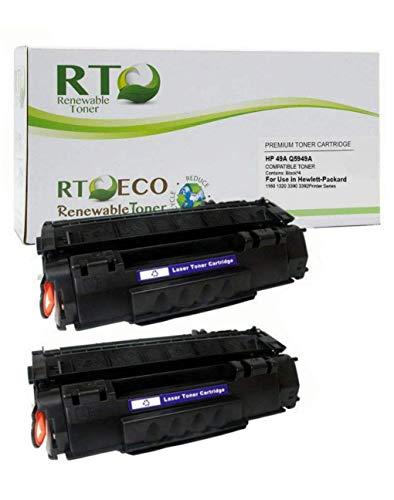 Renewable Toner Compatible Toner Cartridge Replacement for HP 49A Q5949A Laserjet 1160 1320 3390 3392 (Black, 2-Pack)�