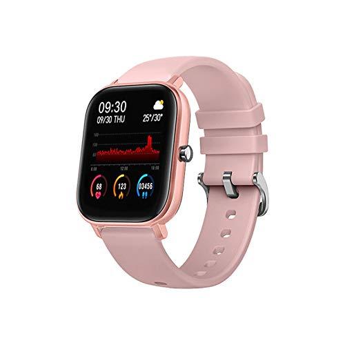 SmartWatch P8 1,4 Pulgadas Smart Watch Men Touch Full Fitness Tracker Presión Arterial Reloj Inteligente Mujer GTS Smartwatch para Xiaomi (Color : Pink)