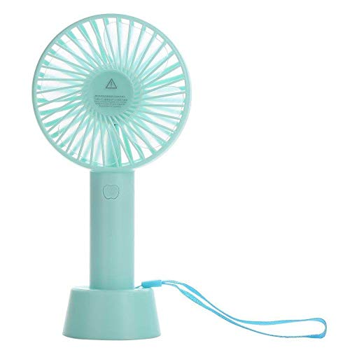Q-QQ9 Mini Fan/Charging Home Travel Portable Small Fan/Hand Fan/No Page Without Shaking Head Small Fan*Blue*3V Mmm
