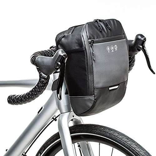Bolsa reflectante para manillar de bicicleta,marco frontal impermeable, paquete de cesta para bicicleta,accesorios para herramientas de ciclismo, bolsa de almacenamiento con bolsillo interior (4.5L)