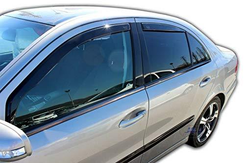 J&J AUTOMOTIVE Windabweiser Regenabweiser für Mercedes E-KLASSE W211 2002-2009 4tlg HEKO dunkel