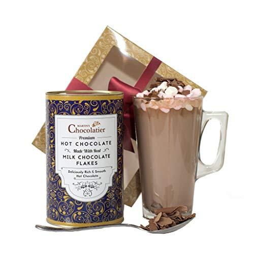 Martins Chocolatier Heiße Schokolade Geschenkset - Schokoladen-Geschenkkörbe - Ideale Geschenk Für Schokoladenliebhaber|Schokoladen Geschenke|