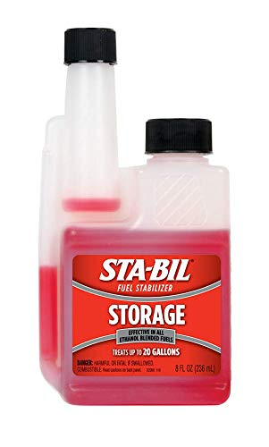 STA-BIL (22208) Storage Fuel Stabilizer - Guaranteed To Keep Fuel Fresh Fuel Up To Two Years - Effective In All Gasoline Including All Ethanol Blended Fuels - Treats Up To 20 Gallons, 8 fl. oz.