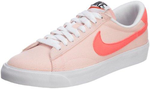 Nike Primo Court Leather, Scarpe da Ginnastica Uomo, Argento Opaco, Argento Opaco, Rosso (Action Red), 38.5 EU