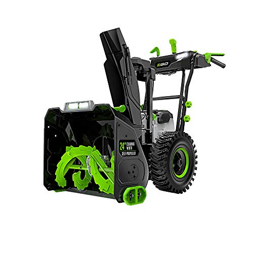 EGO Power+ SNT2400 24 in. Self-Propelled 2-Stage Snow Blower with Peak Power Battery and Charger Not Included, Black