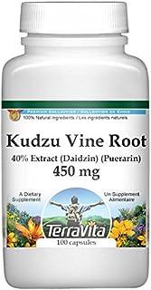Extra Strength Kudzu Vine Root (40% Extract (Daidzin) (Puerarin)) - 450 mg (100 Capsules, ZIN: 428384)
