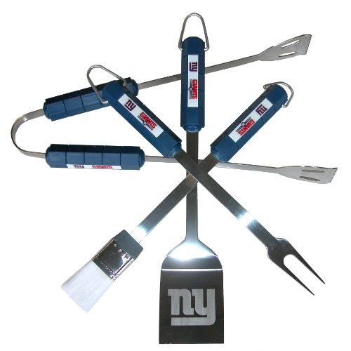 Find Bargain NFL New York Giants 4-Piece Barbecue Set