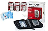 Roche 150 Test Strips Accu-Chek Performa (Long Expiration Dates) Bundle Glucometer Tester Monitor Kit + Accuchek Softclix + Accu-Check Lancets + Diabetes DiaWipes Finger Accurate Blood Level Results