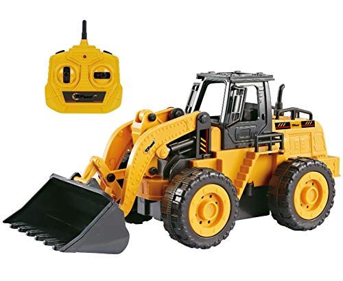 Top Race 5 Channel Fully Functional Remote Control Construction Truck Kids Size Designed for Small Hands (Front Loader)