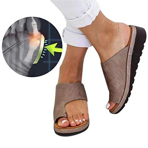 Sandalias Correctoras Sandalias Cómodas De Plataforma Bunion Corrector Zapatos Pies Correcta Suela Plana Playa Ortopédica Zapatillas Cuidado De Los Pies