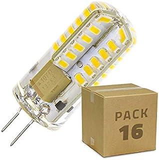 LEDKIA LIGHTING Pack Bombilla LED G4 3W (220V) (16 un) Blanco Neutro 4000K