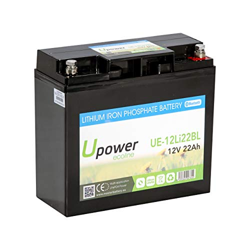Master U-Power Batería Litio 300Ah 12V Bluetooth, Ue-12Li-300-Bl