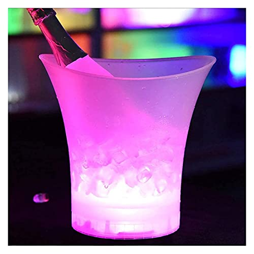 Cubo de hielo Bañera de Hielo Cubo de hielo Barro Cerveza Cubierta de hielo ,DIRIGIÓ CAMBIO CAMBIO DE COLOR CUBIERTE DE ROOLADOR, COMPOTO DE BEBIDAS DE VINO PARA KTV Barra de fiesta casero boda