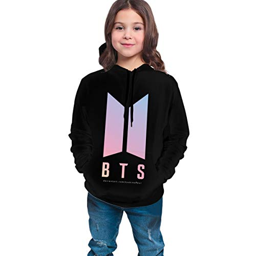 Nice Sweaters Face Yourself_BTS Fans DIY Hoodie with Hats Packets Coat Sweatshirts for Young Girls and Boys 10-12 Years