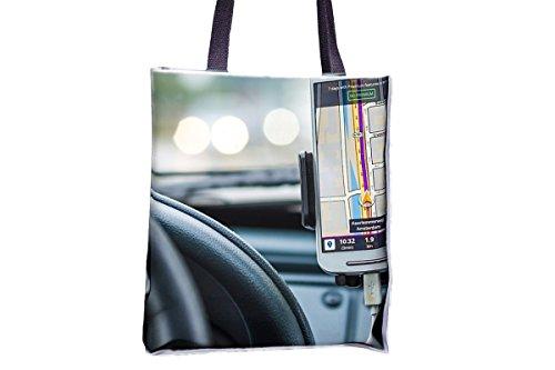 Navegación, Car, Drive, Road, GPS Allover Printed Totes, Popular Totes, Popular Womens...