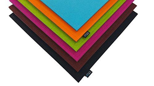voigt design Filz-Sitzauflage (40 x 40 cm, 104 pink) - Stuhlauflage - Sitzkissen - Stuhlkissen - Auflage - quadratisch - eckig - bi-Color - 2-lagig