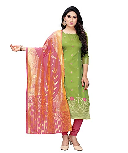 Being Banarasi women's jacquard silk dress material