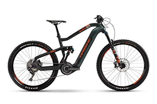 HAIBIKE XDURO AllMtn 8.0 Flyon Elektro Bike 2021 (M/44cm, Olive/Carbon/Orange Matt)
