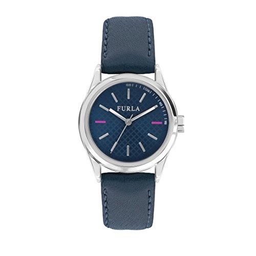 FURLA Damen Datum klassisch Quarz Uhr mit Leder Armband R4251101503