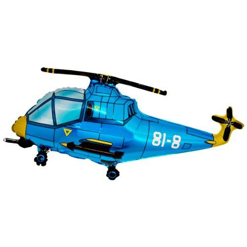 Folienballon Hubschrauber blau Folienballons
