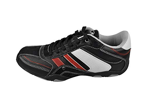 Sedagatti Mens Black Casual Lace Up Sneakers