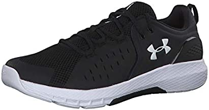 Under Armour mens Charged Commit 2.0 Cross Trainer Running Shoe, Black/White, 12.5 US