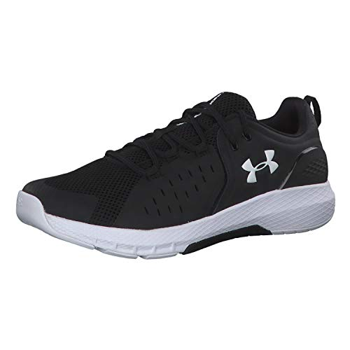 Under Armour Men's Charged Commit 2.0 Cross Trainer Running Shoe, Black (001)/White, 11.5 Kentucky