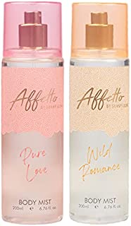 Affetto By Sunny Leone Pure Love & Wild Romance Body Mist - For Women 200ML Each (400ML, Pack of 2)
