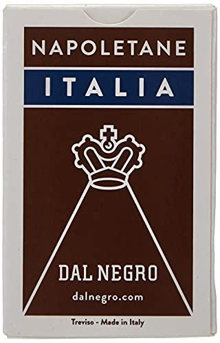 Dal Negro- Napoletane Italia-Astuccio Marrone Carte da Gioco Regionali, Multicolore, 010069