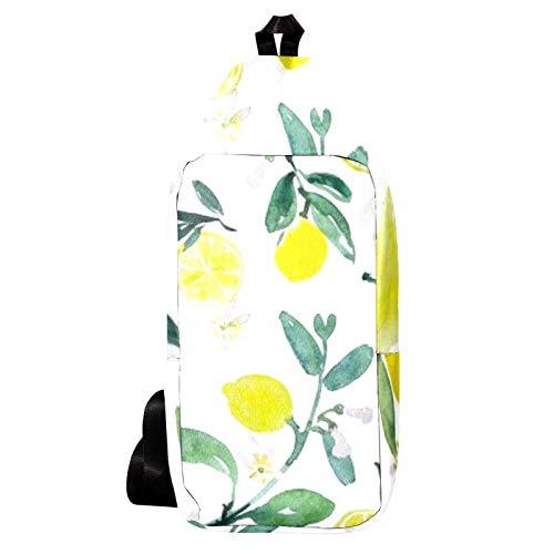 EZIOLY - Mochila de hombro con hojas tiernas de limón, bolsa bandolera para viajes, senderismo, para hombres y mujeres