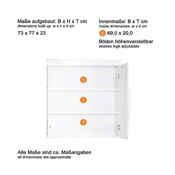Trendteam Muebles, Madera, Gris, 69 x 84 x 20 cm