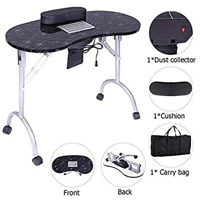 AONAILS Portable MDF Manicure Table