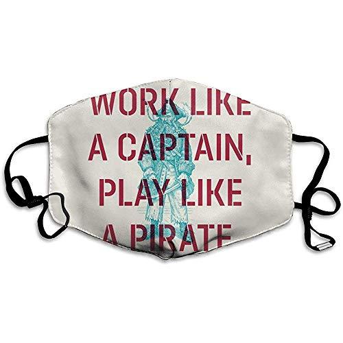 Captain spelen als een piraat masker fietsen camping reizen winddichte zon anti-stofmasker mond