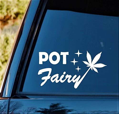 Cycay M1131 Topffee Marihuana Blatt Cannabis 17,8 cm Aufkleber für Auto LKW SUV Van Boot Laptop Wand Spiegel Fenster Glas