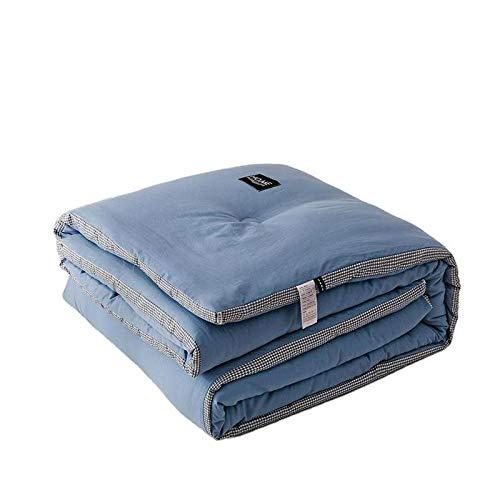 Hahaemall duvet king size Extra Thick & Warm Duvet Quilt Double Size - Duvet Quilt Super King Washed cotton quilt winter duvet -Toddler bed duvet-D_180x220cm-3000g