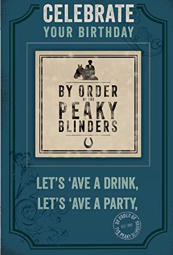 Peaky Blinders Geburtstagskarte mit abnehmbarem Bierdeckel