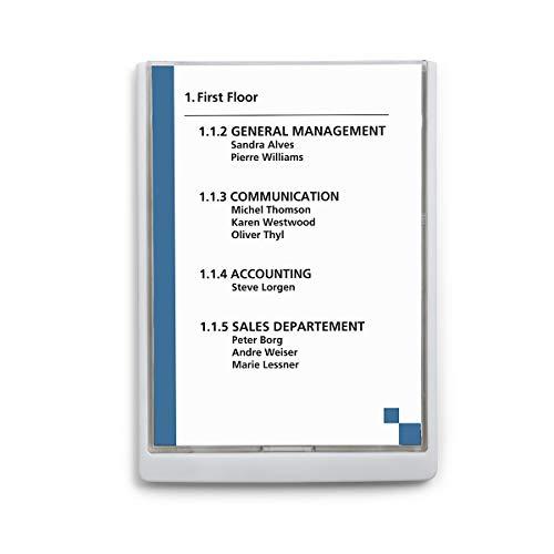 Durable Infoschild - HxBxT 325 x 235 x 15 mm, VE 5 Stk - weiß - Infodisplay Infodisplays Infotafel Plakattafel Plakattafeln