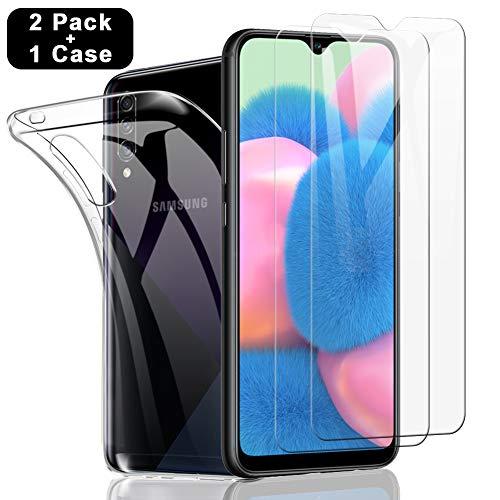 SHINEZONE Panzerglas schutzfolie für Samsung Galaxy A50/A50S,Samsung Galaxy A30S/M31/M21,(2 Stück+Hülle)[9H] Festigkeit Schutzfolie Kratzenfest Ölwiderstandsfähig & Blasenfrei Handy