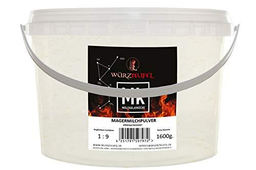 Magermilchpulver, Trockenmilch, Magermilch – Pulver aus Deutschland. PE-Eimer 1600g (1,6KG)